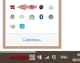 skype recorder in system tray